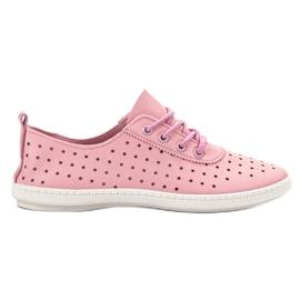 SHELOVET pink Openwork Women's Sneakers