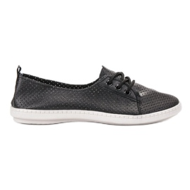 SHELOVET black Sneakers With Eco Leather