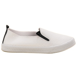 Kylie White Sneakers Slip On