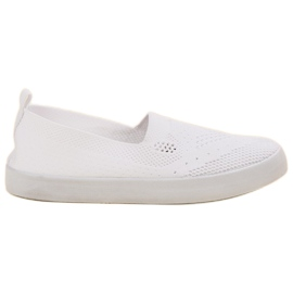 SHELOVET white Textile Slipony
