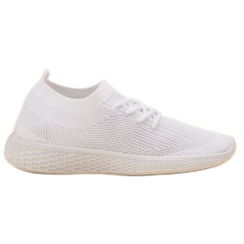 SHELOVET white Slip-on Sport Shoes