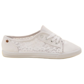Renda white Sneakers With Lace