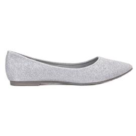 Grey Brocade Ballerina VINCEZA