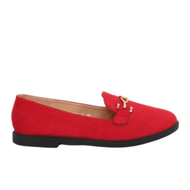 Women's loafers red 1631-127 Red