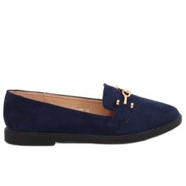 Women's moccasins navy blue 1631-127 D. Blue