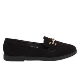 Women's loafers black 1631-127 Black
