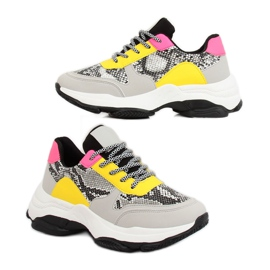 Gray sport shoes BL169P Snakeskin