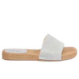 Grey Women's silver slippers JFF-V182 Silver