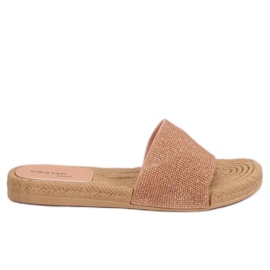 Women's pink slippers JFF-V182 Pink