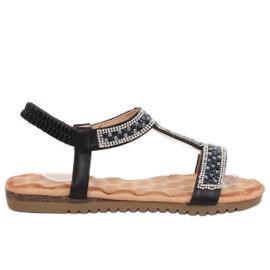 Black women's sandals HT-67 Black