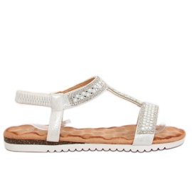Sandals women silver HT-67 Silver grey