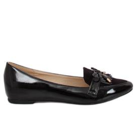 Women's black loafers JL29 Black