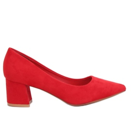 Pumps with high heels red KJ-10 Red