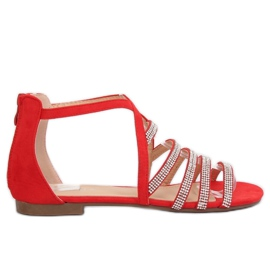 Women's sandals red LL6339 Red