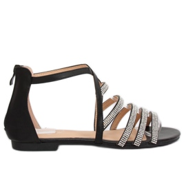 Black women's sandals LL6339 Black