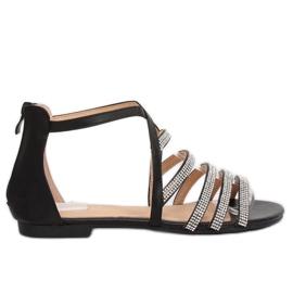 Black women's sandals LL6339 Black