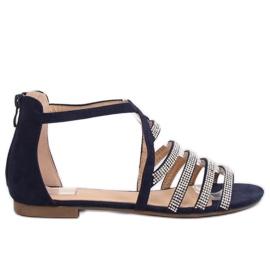 Sandals women's navy blue LL6339 Blue