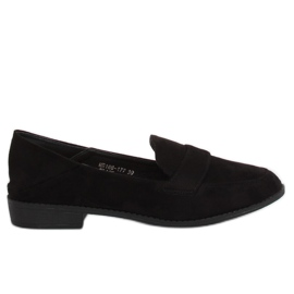 Women's loafers black MB188-117 Black