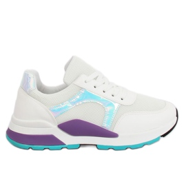 White PP-46 White sports shoes