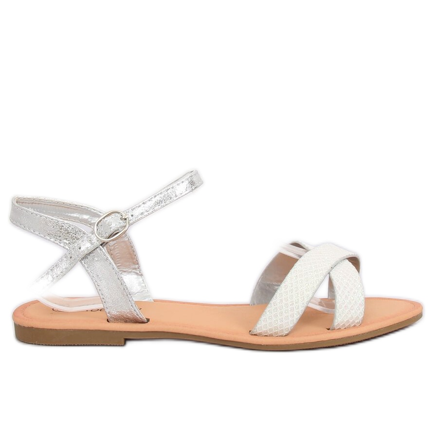 Grey Women's silver sandals WL282 Silver