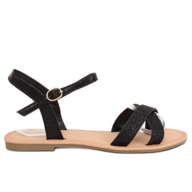 Black and black women's sandals WL282 Black