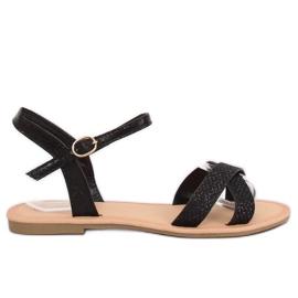 Black and black women's sandals WL282 Black