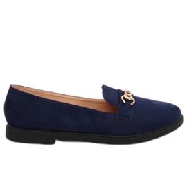 Women's moccasins navy blue 1631-123 D. Blue