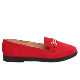 Women's loafers red 1631-123 Red