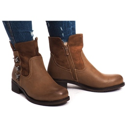 Brown Insulated Boots 4417 Camel