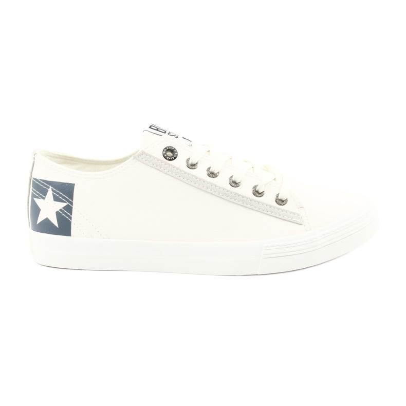 Big star half-boots white 174074 blue