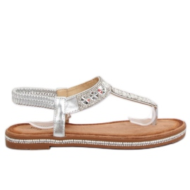 Sandals silver ZY163 Silver grey