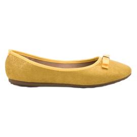 GUAPISSIMA yellow Ballerina With Brocade