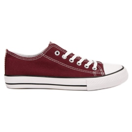 SHELOVET Burgundy Sneakers red