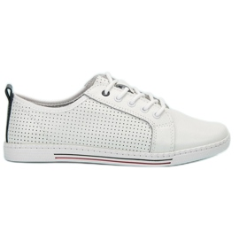 Filippo white Leather shoes