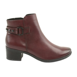 Boots women Caprice 25433 burgundy