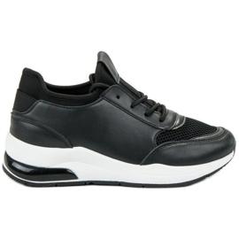 Ideal Shoes black Women's Sport Shoes
