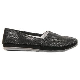 Filippo Black Leather Sneakers Slip