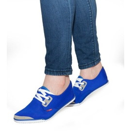 Laced Lycra sneakers CC8518 Blue