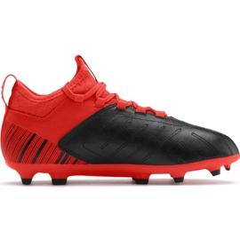 Football boots Puma One 5.3 Fg Ag JR105657 01 red black