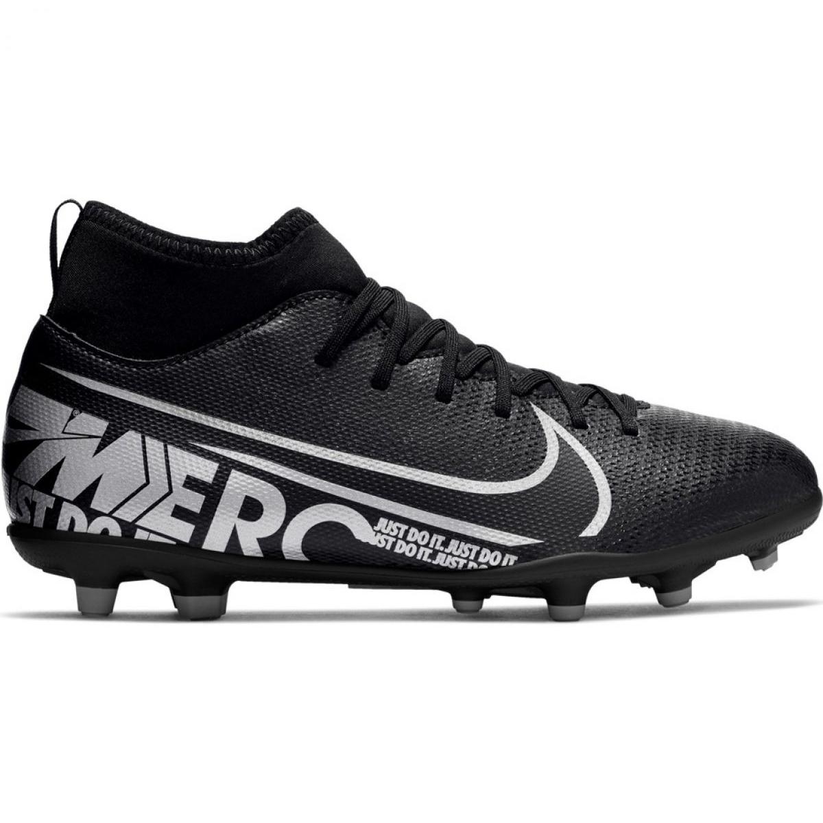 Bigote índice Descifrar  Football shoes Nike Mercurial Superfly 7 Club FG / MG Jr AT8150-001 black  pink - ButyModne.pl