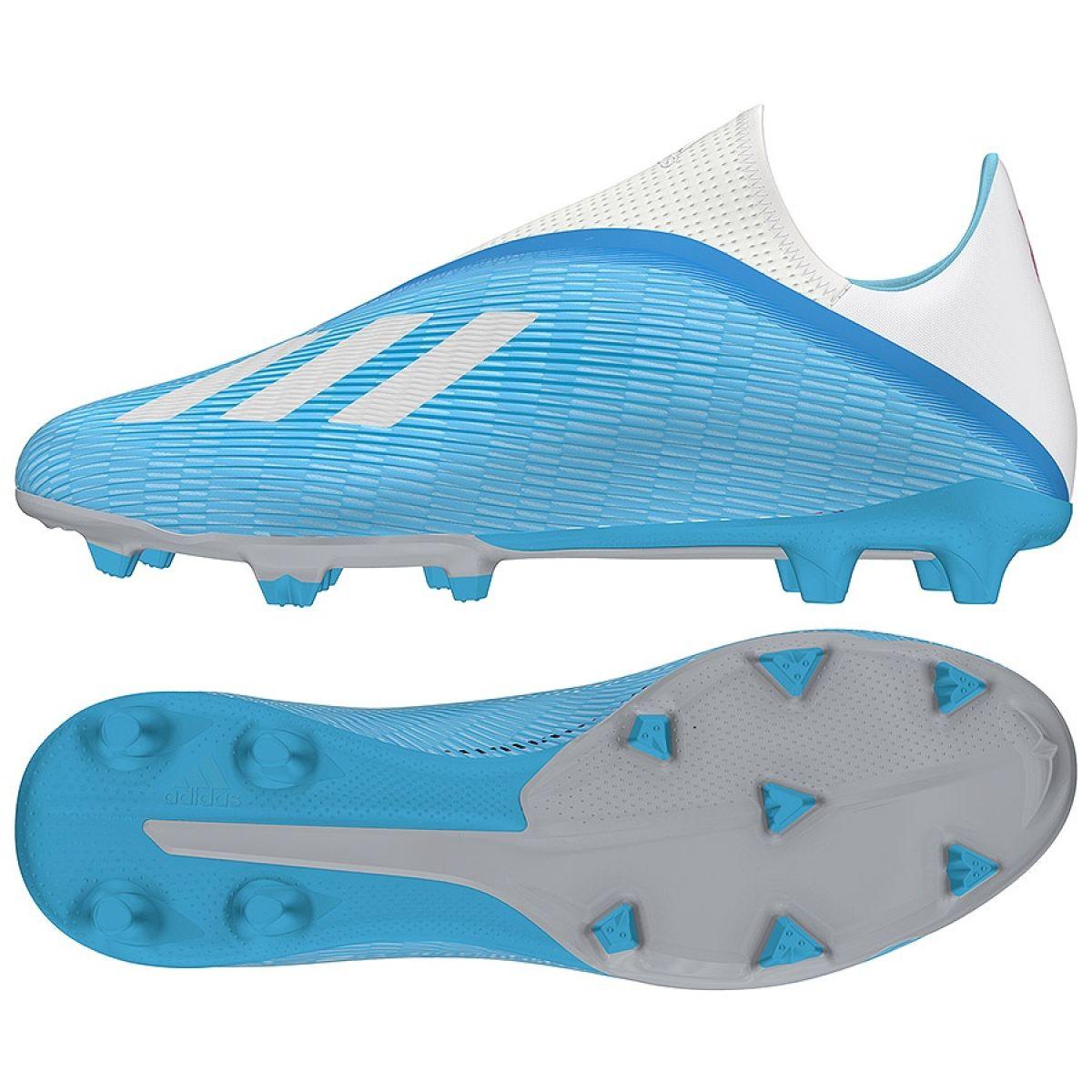 Football shoes adidas X 19.3 Ll Fg M EF0598 blue blue