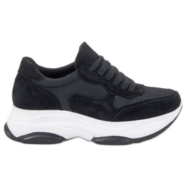Ideal Shoes Light Black Sneakers