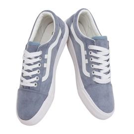 Blue women's sneakers B70A BLUE / WHITE