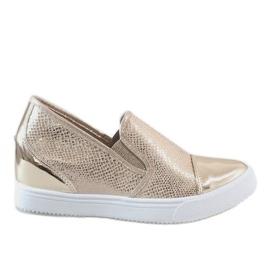 Yellow Golden wedge sneakers DD437-8