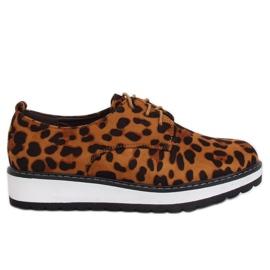 Moccasins for women leopard C-7225 Leopard Print brown