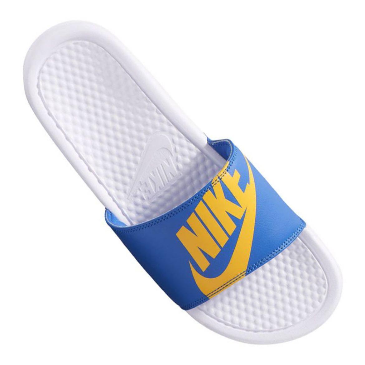 blu Nike Benassi Jdi Print 631261-104 slippers
