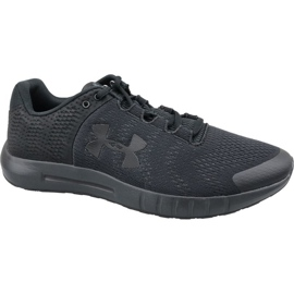 Under Armour black Under Armor Micro G Pursuit Bp M 3021953-002 running shoes