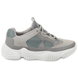 SHELOVET Fashionable Gray Sneakers grey