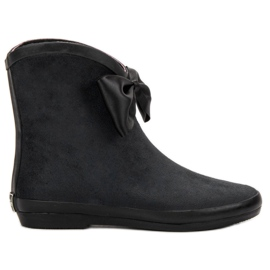 Kylie Suede Wellingtons With Bow black
