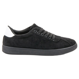 Ideal Shoes Black Lace-up Footwear